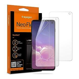 Spigen NeoFlex Screen Protector [TPU Film] Designed for Samsung Galaxy S10 [2 Pack]