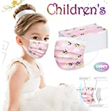 50PCS Children Face Cover, Fashion Anti-Particle Anti-droplet Anti-pollen Disposable Breathable 3-Ply Anti-Dust Face…
