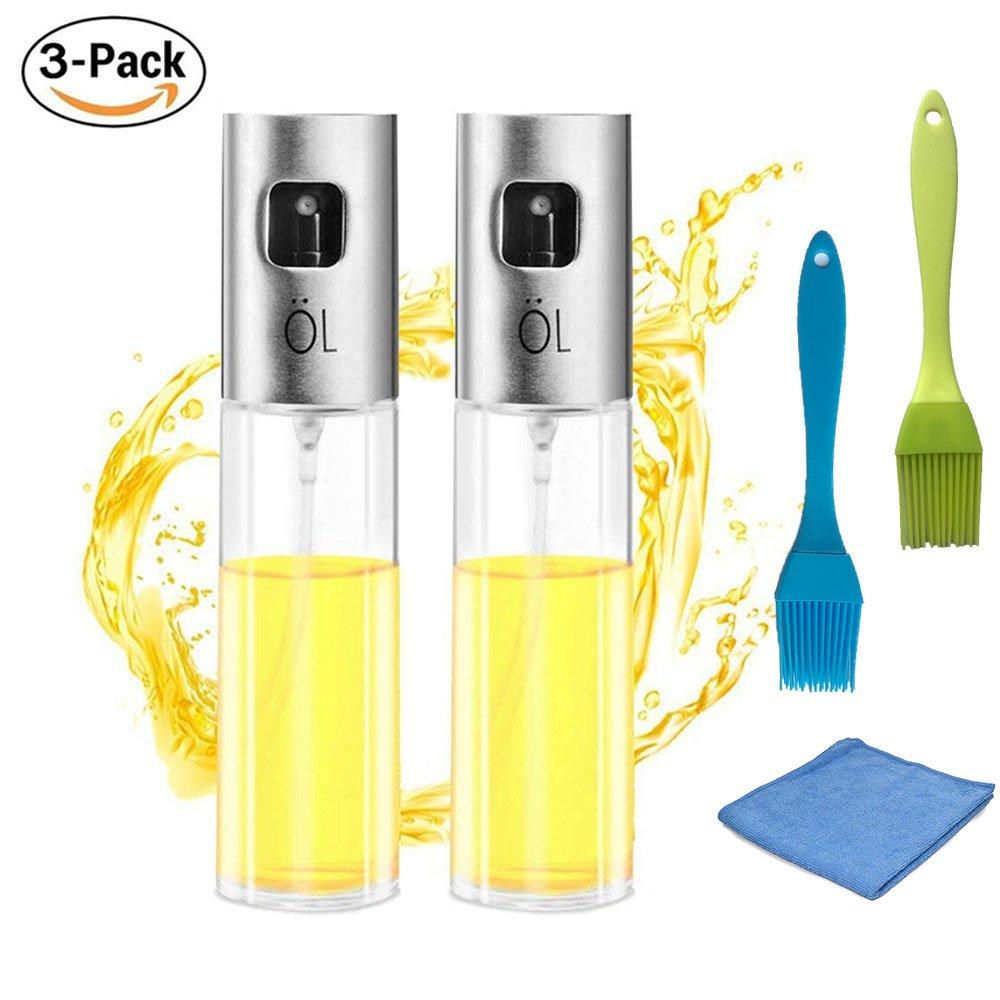 Olive Oil sprayer for cooking Food-grade Glass Oil Spray Bottle Vinegar Bottle Oil Dispenser for BBQ, Making Salad, Cooking,Baking, Roasting, Grilling, Frying (Oil Sprayer)