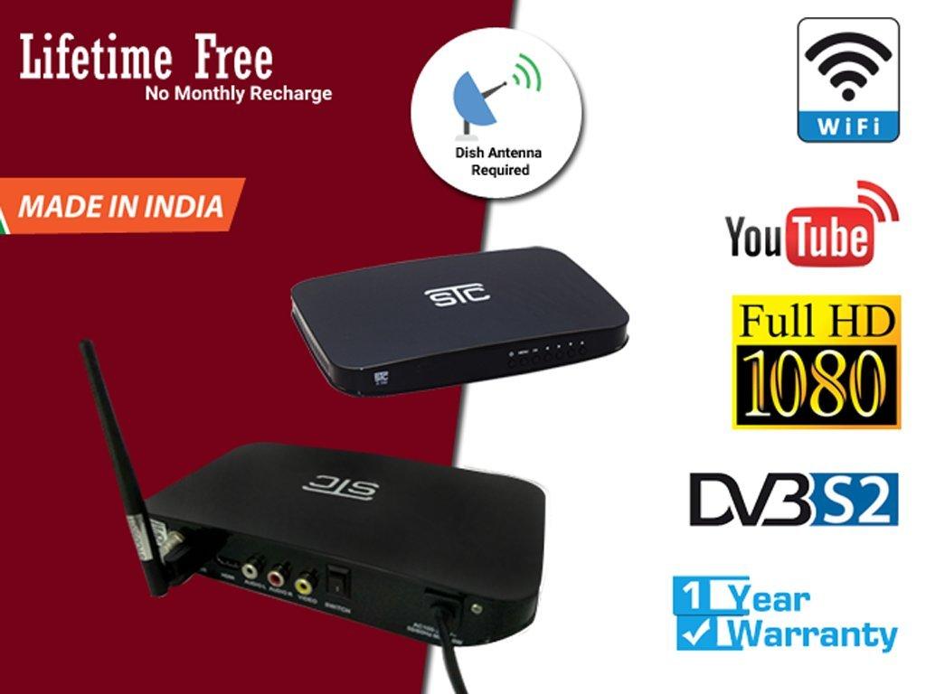 STC H-700 FTA DVB S2 Set Top Box Satellite Receiver- HD Recording