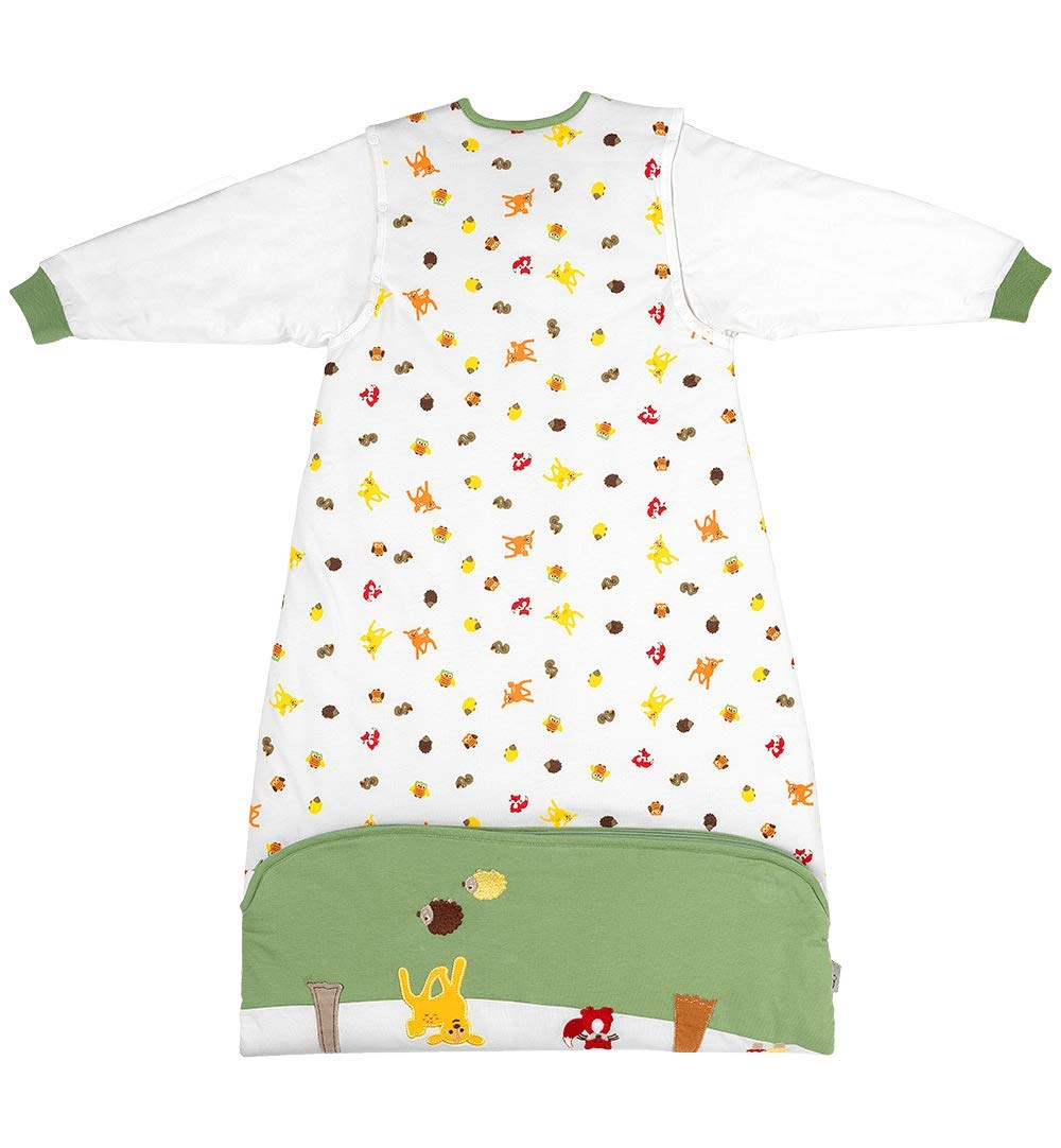 Slumbersac Sleeping Bag with Long Removable Sleeves 2.5 Tog Forest Friends 6-18 months//90cm