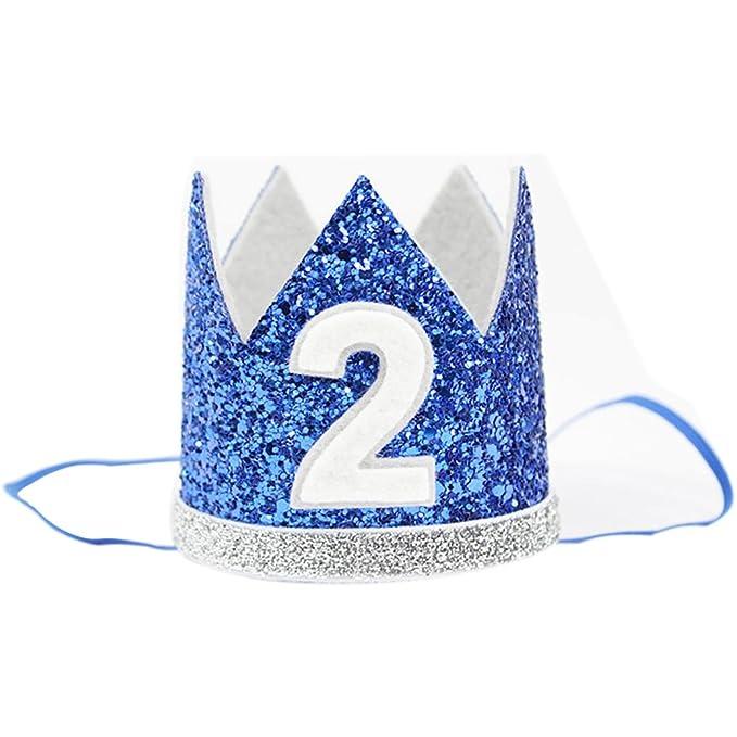 Amazon The Golden Swallow 2nd Baby Boy Birthday Crown Headband