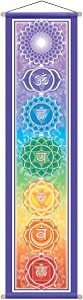 """Mandala Arts 12"""" X 48"""" Large Chakra Banner, By Bryon Allen"""