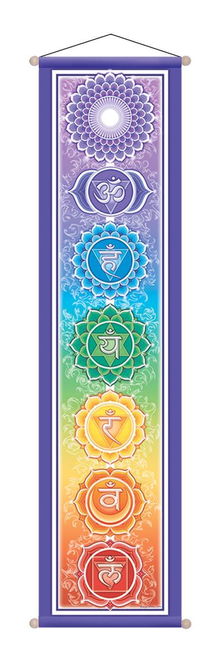 durch Bryon Allen Mandala Arts 12 X 48 Large Chakra Banner By Bryon Allen Mandala Kunst 12 x 48 gro/ßes Chakra Fahne