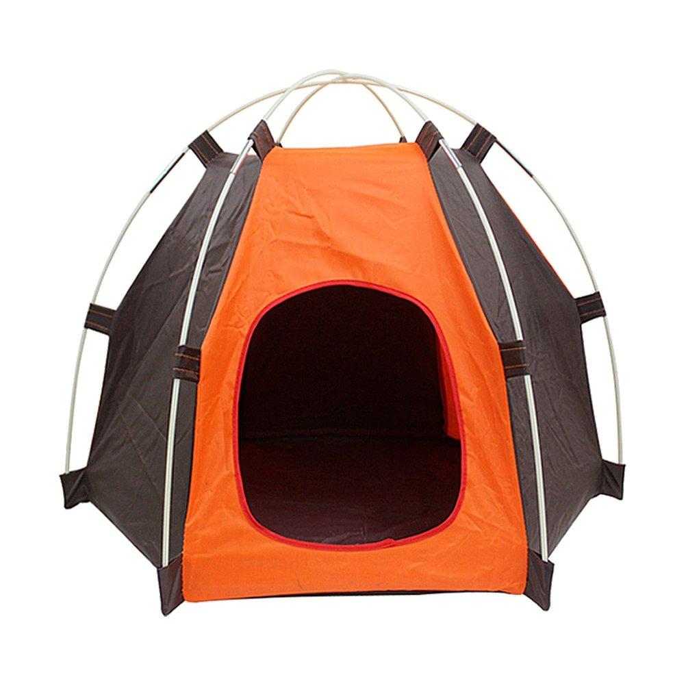 POPETPOP Portable Plegable Pop Up Tienda de Campa/ña Impermeable Oxford al Aire Libre Tienda de Campa/ña Interior Casa de Perro Tienda de Campa/ña Nido Perrera para Peque/ño Perro Puppy Kitten Cat