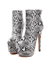 Boots For Women Fashion Ankle High Heels Toe Platform Sexy Style