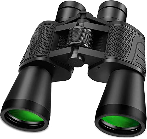 Outerman 20 x 50 Powerful Binoculars for Adults IPX7 Waterproof Durable Full-Size Clear Binoculars for Bird Watching Travel Sightseeing Hunting Wildlife Watching Outdoor Sports Games and Concerts