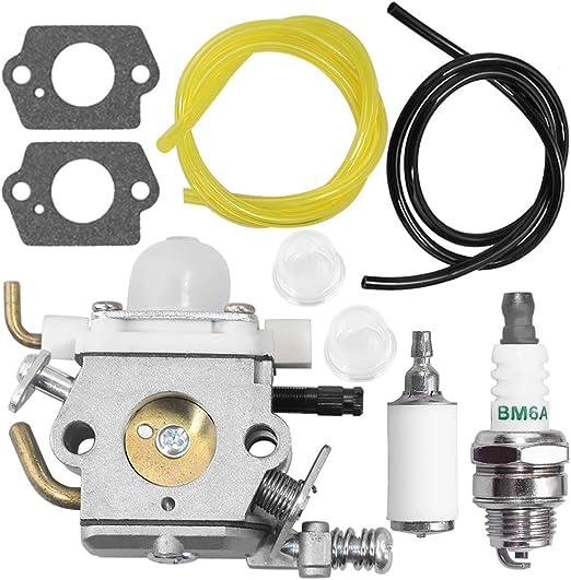 Efficiente Carburatore compatibile con Echo WTA-33 candela PB-250 elettrica soffiante carburatore kit A021001881 A021001882 innesco lampadina,durevole