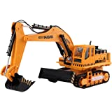 PowerLead Ptco T009 RC Excavator Battery Powered Electric RC Remote Control Construction Tractor With Lights & Sound