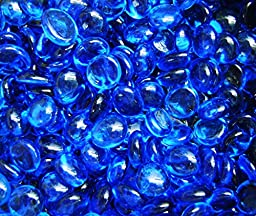 Creative Stuff Glass - 3 Lb - Aqua Blue Glass Gems - Vase Fillers (12-14mm, Approx. 1/2\