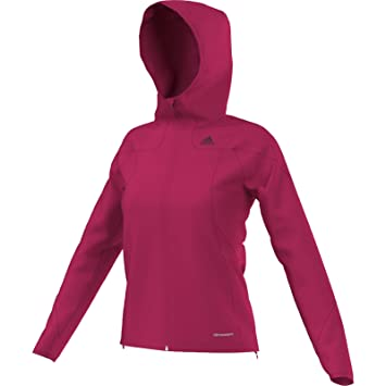 adidas Sport Performance HT Sided Fleece Hoodie Jacket, Vivid Berry, X-Small