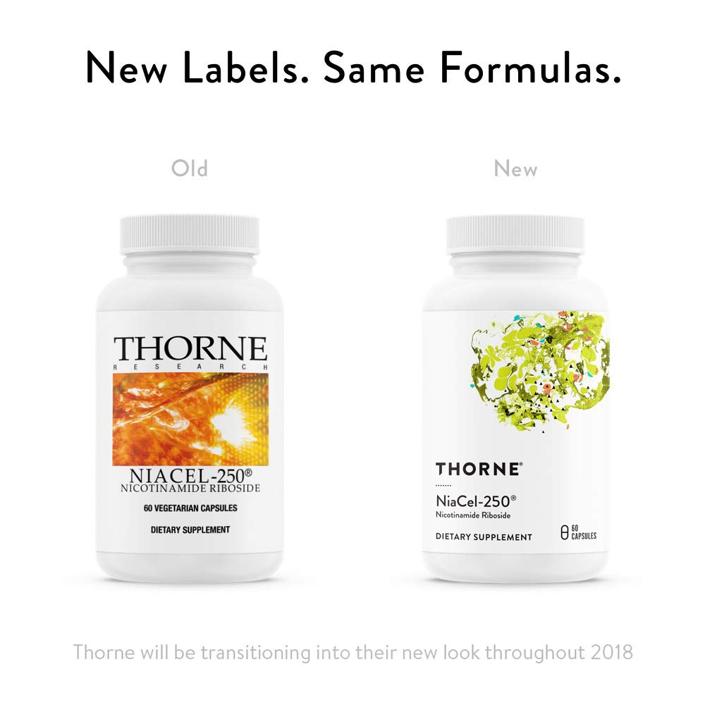 Thorne Research - NiaCel-250 - Nicotinamide Riboside Supplement with ChromaDex's Niagen - 60 Capsules by Thorne Research (Image #3)