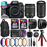Holiday Saving Bundle for D7500 DSLR Camera + AF-P 70-300mm VR Lens + AF-P 18-55mm + 6PC Graduated Color Filter + 2yr Extended Warranty + 32GB Class 10 Memory + Backpack - International Version