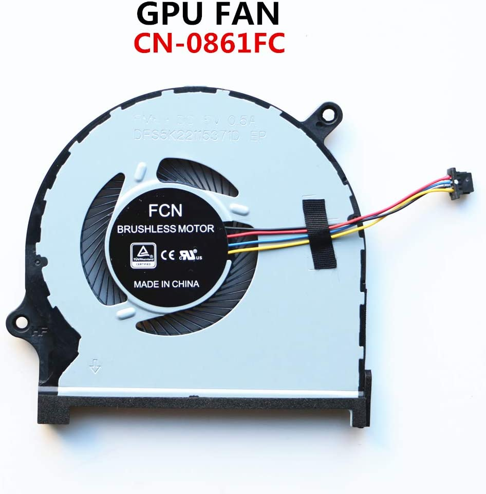 NBFAN CN-0861FC Laptop Cooler Fan for DELL INSPIRON 7590 7591 P83F Laptop GPU Cooling Fan (GPU Fan)