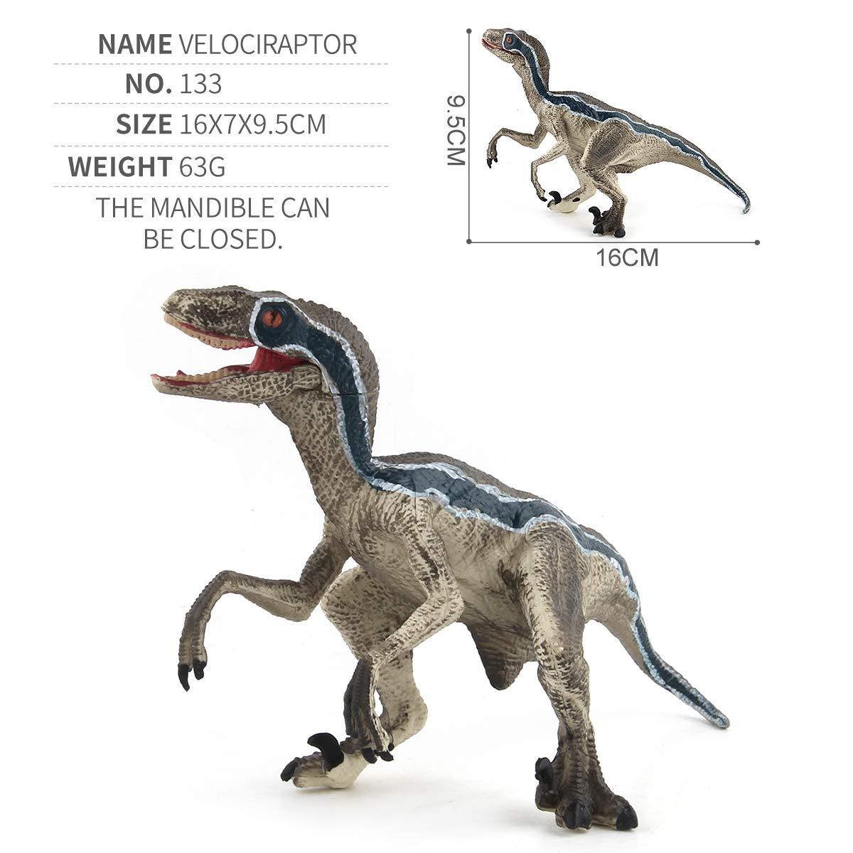 CEKtoys Velociraptor Model Toy Dinosaur Toy Jurassic Animal Model Hand-Painted Animal Models Realistic Dinosaur Models