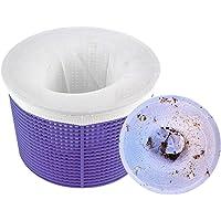 Calcetines Protectores para Filtros de Piscina para Cesta de Filtro Skimmer Aiglam 10 Piezas Calcetines de Piscina Forro de Malla de Malla Ultra Fina para Cesta de Piscina