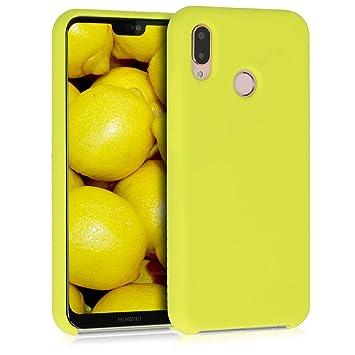 kwmobile Funda para Huawei P20 Lite - Carcasa de TPU para teléfono móvil - Cover Trasero en Amarillo neón