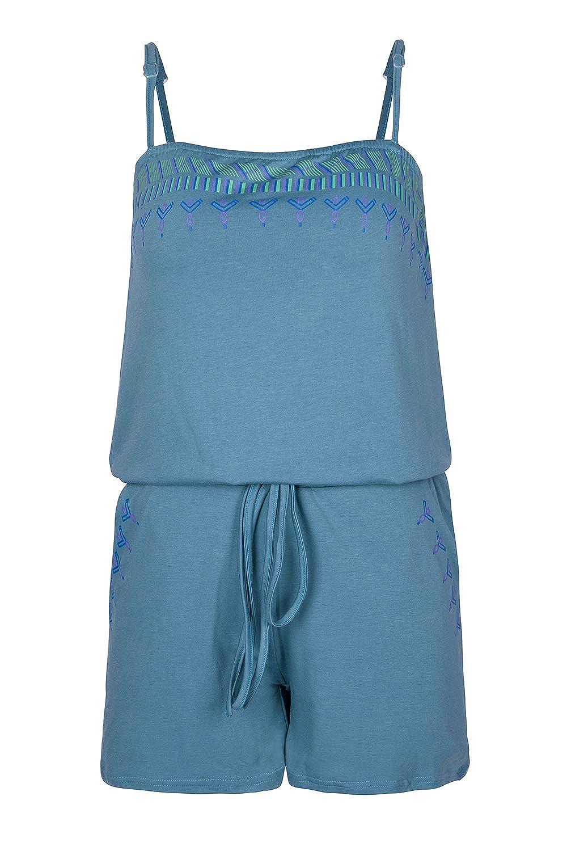6a18a9112bd3 Amazon.com  VamJump Women Casual Print Spaghetti Strap Homewear Short  Romper Jumpsuit  Clothing
