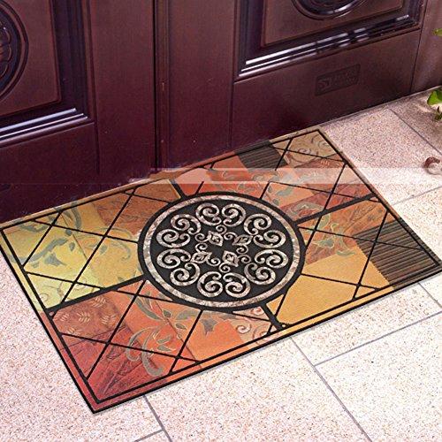 SangreAzul Non Slip Rubber Doormat,Recycled Fabric Tire-link Durable Rug Outdoor Mat Modern Plush Carpet Entrance Rug-A 58x88cm(23x35inch) -