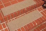 Waterguard Squares Stair Treads, Medium Brown, Set of 4