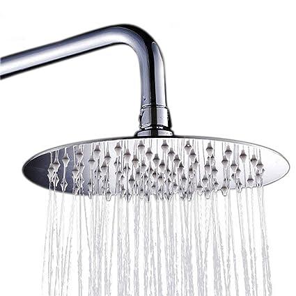 8 Inch Bathroom Round Rainfall Shower Head High Pressure Sprayer Stainless Steel