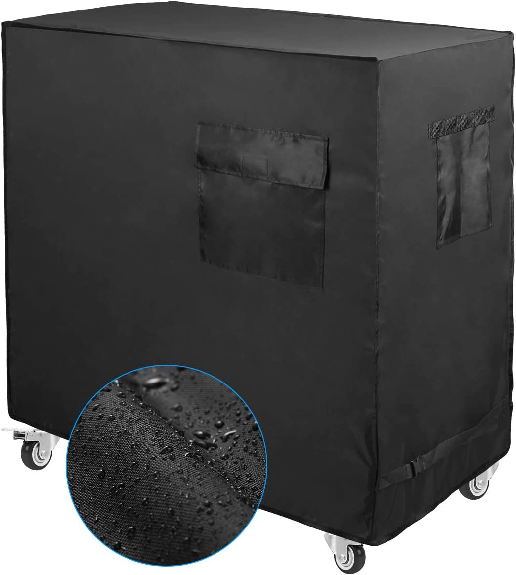 Luxiv Cooler Cart Cover Black, Waterproof Rolling Cooler Cover 34L x 20W x 32H inches 80 Quart Rolling Ice Chest Cover for Anti Rain, Sunlight, Dust (34L x 20W x 32H)