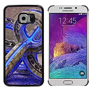 Paccase / SLIM PC / Aliminium Casa Carcasa Funda Case Cover para - glass pipe weed 420 purple neon color - Samsung Galaxy S6 EDGE SM-G925