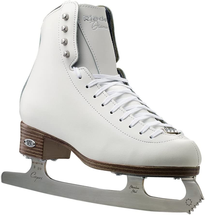Riedell 33 Diamond Women s and Men s Figure Ice Skates Color White