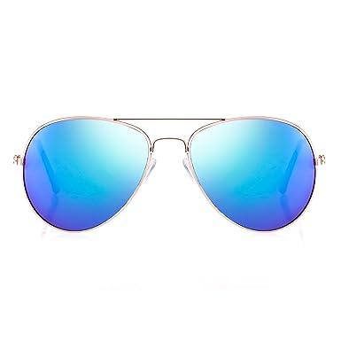 Smileyes Sonnenbrille modern cool Damen oder Herren TSGL082.01A (blau) o2ZMs7BO