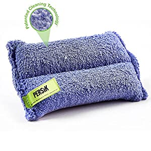 Nano-Knockout Ultra Microfiber Cleaning SPONGE – 2-in1, COMBINATION for Glass and Multipurpose – JUST ADD WATER No Detergents Needed – Use for Windows, Glass, Mirrors, Removing Stains in the cracks,