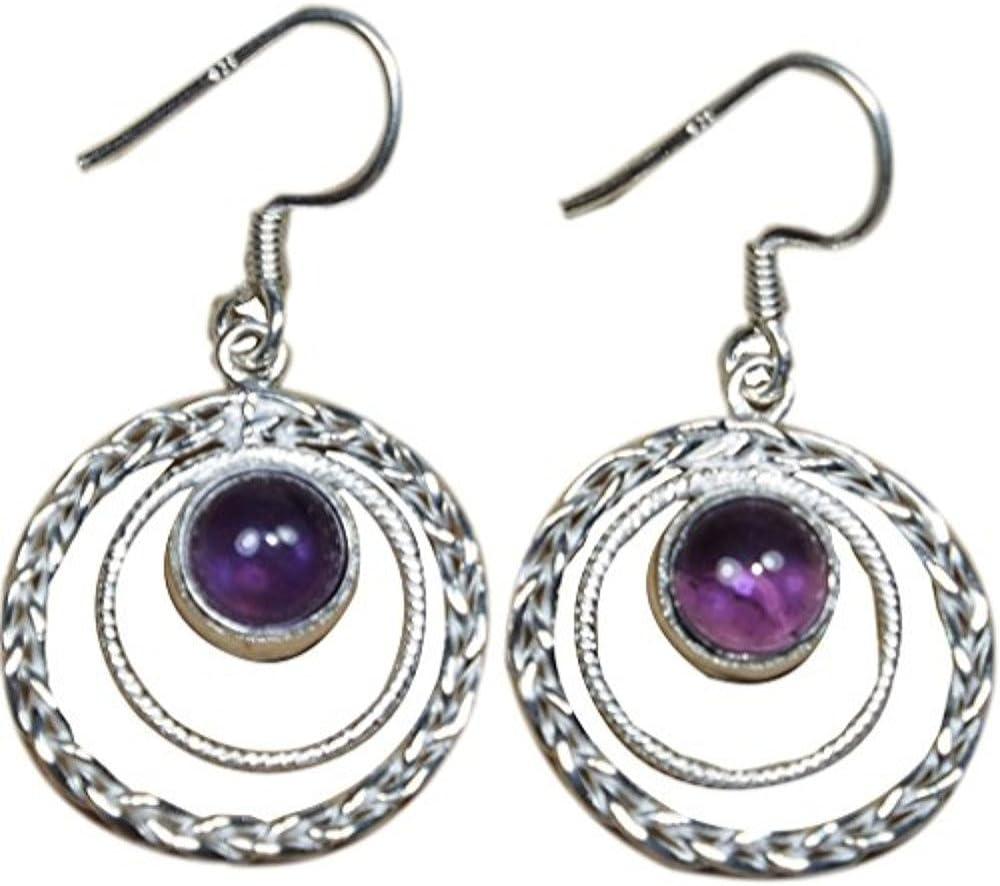 DV Jewels Natural Amethyst Earrings