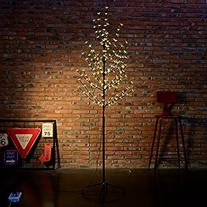 Excelvan 1 5m 5ft 180 Leds Cherry Blossom Tree Light With Warm White Light Black
