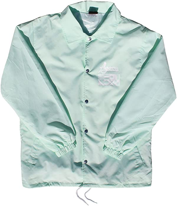 51edc3d5b8a AGORA Mint Coach Jacket (Small) at Amazon Men's Clothing store: