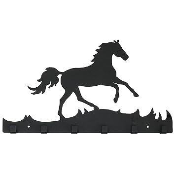 Nostalgie Garderobenhaken Haken Wandhaken Kleiderhaken Pferd Pferdehaken Metall