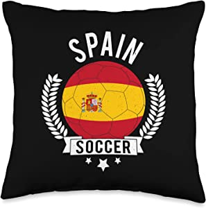 Awesome Creative Soccer Designs Spain National Soccer Team Football Fan Throw Pillow, 16x16, Multicolor