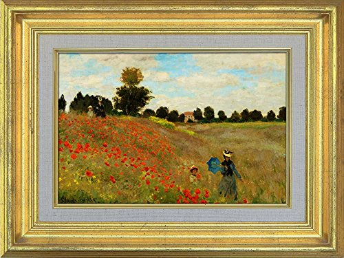 Creative 3D Visual Effect Wall Mural The Poppy Field near Argenteuil 1873 by Claude Monet Peel Stick Wall Decor