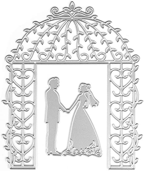 Bride Groom Cutting Dies Stencil DIY Scrapbooking Album Card Embossing Craft