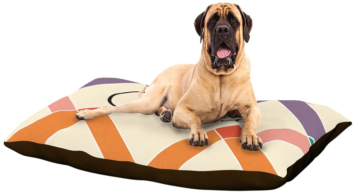 X-Large 40\ Kess InHouse KESS Original Charlie  colorful Geometry Dog Bed, 50 by 60-Inch