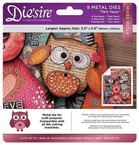 Die 'sireMixed Media metal Dies, Twit Twoo, pezzi Crafter' s Companion DS-MM-TWI