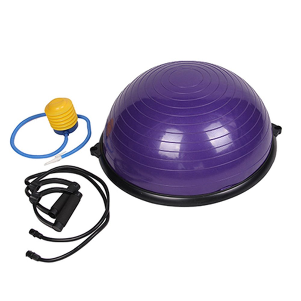 Lovinland Balance Hemisphere Yoga Half Ball Balance Trainer Core Exercise Ball for Gym Office Home Purple