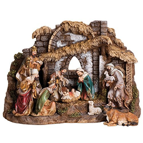 Joseph Studio 10 Piece Colored Christmas Nativity by Joseph Studio