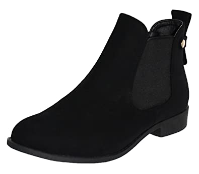 Amazon.com | Top Moda Women's La-5 Slip-On Low Heel Ankle Boot ...