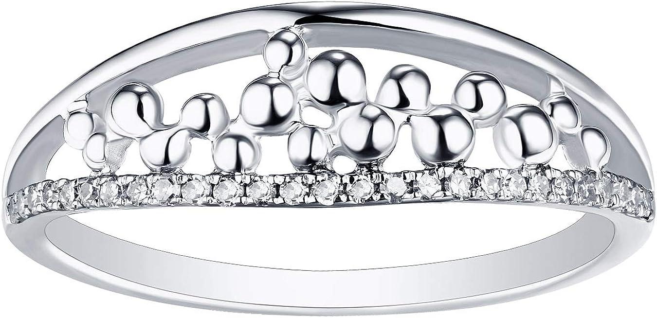 Prism Jewel G-H//I1 Round 0.10Ct Natural Diamond Delicate Designer Ring