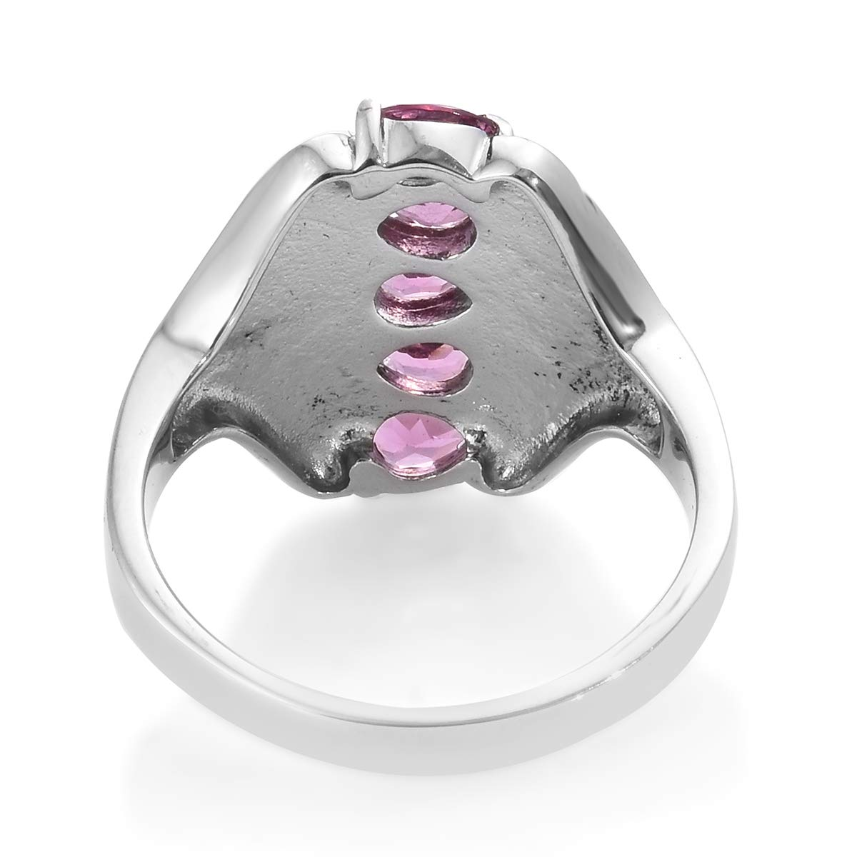 Shop LC Delivering Joy Statement Ring Stainless Steel Pear Rose Garnet Gift Jewelry for Women Size 9 Ct 1.6