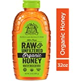 Nature Nate's 100% Pure Raw & Unfiltered Organic Honey;32-oz. Squeeze Bottle;Certified Gluten Free and OU Kosher Certified;Enjoy Honey's Balanced Flavors,Wholesome Benefits and Sweet Natural Goodness