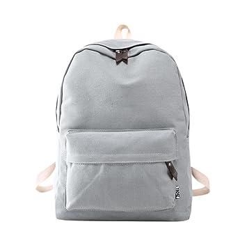 mochilas escolares juveniles Sannysis bolsos de mujer mochilas de viaje (Gris): Amazon.es: Deportes y aire libre