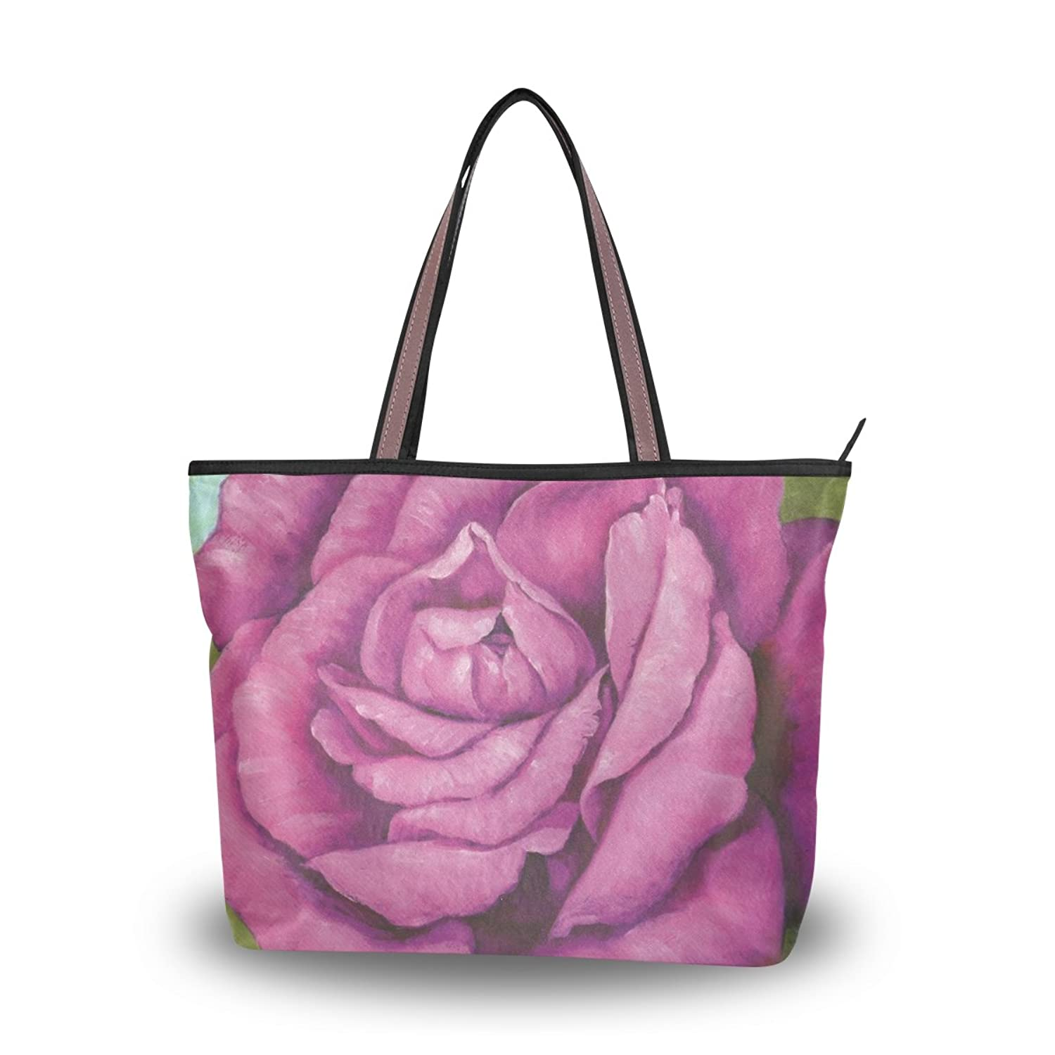 Yochoice Women's Shoulder Bags,Retro Vintage Art Floral Oil Painting,Tote Bag Design 13
