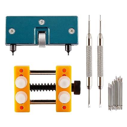 Abridor de carcasa de relojes ajustable Teenitor, soporte para relojes resistentes al agua, herramienta