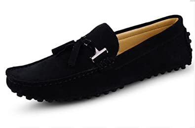 HAPPYSHOP(TM Top-Sider Mens Moccasins Suede Loafers Shoes Slip-on Driving Shoes