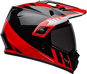 Bell MX-9 Adventure MIPS Full-Face Motorcycle Helmet (Dash Gloss Black/Red/White, Large)